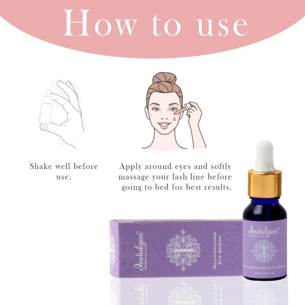 How to Use Indulgeo Eye Syrum